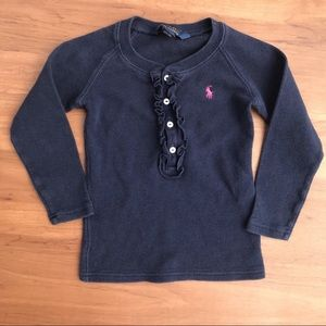 Polo Ralph Lauren navy and pink long sleeves
